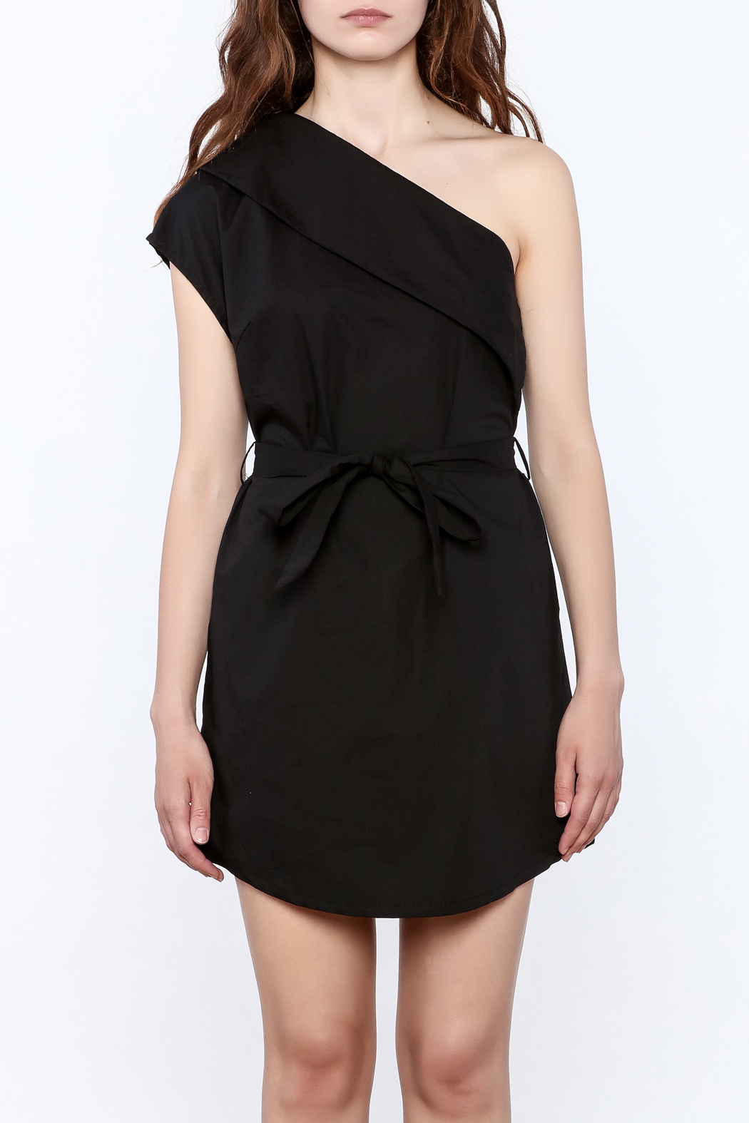 re:named Classy One Shoulder Dress - Side Cropped Image