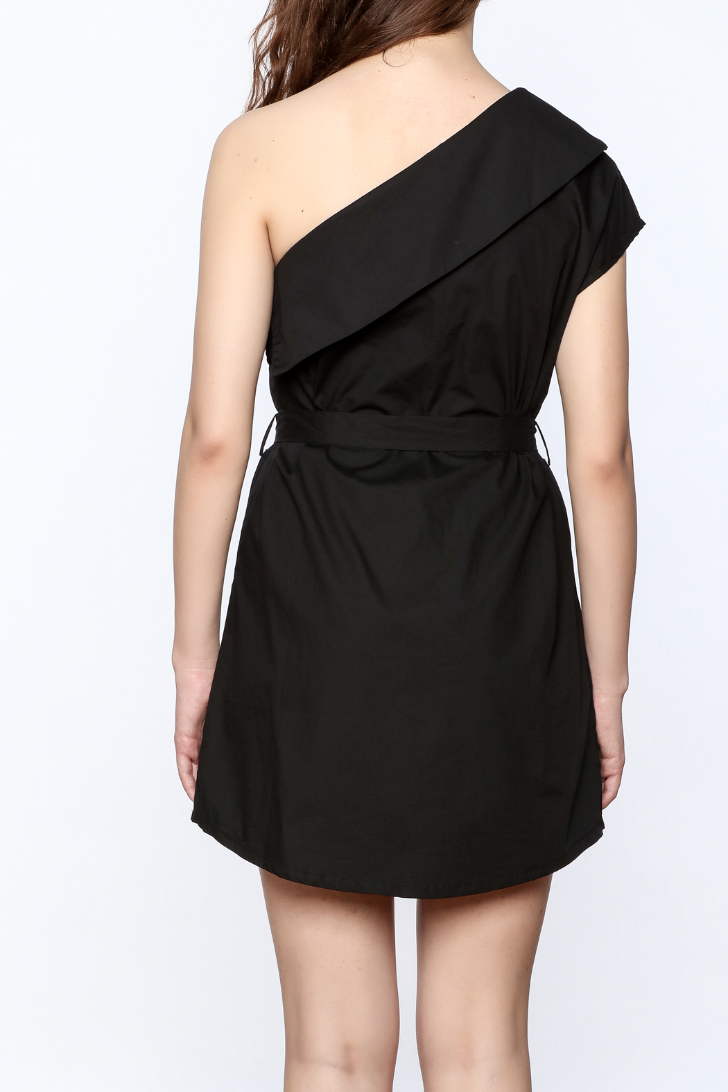 re:named Classy One Shoulder Dress - Back Cropped Image