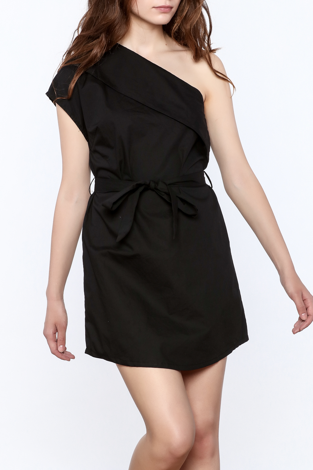 re:named Classy One Shoulder Dress - Front Cropped Image
