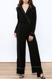re:named Black Pajama Style Jumpsuit - Product Mini Image