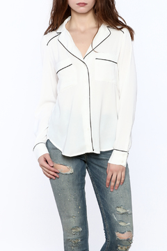 re:named White Long Sleeve Top - Product List Image