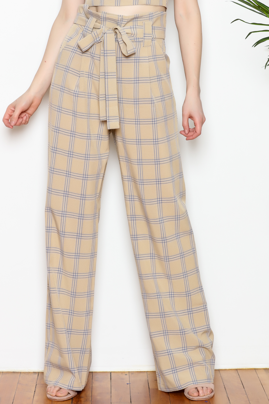 re:named Plaid Pants - Front Cropped Image