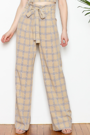 re:named Plaid Pants - Front cropped