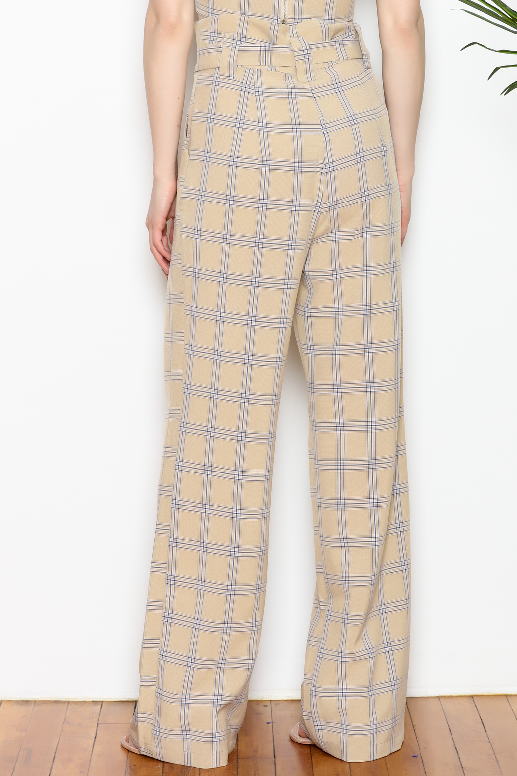 re:named Plaid Pants - Back Cropped Image