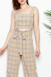 re:named Plaid Top - Front cropped