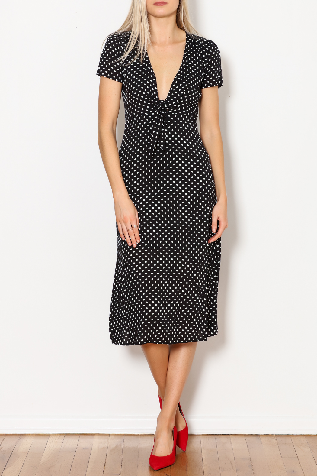 re:named Polka Dots Dress - Front Cropped Image