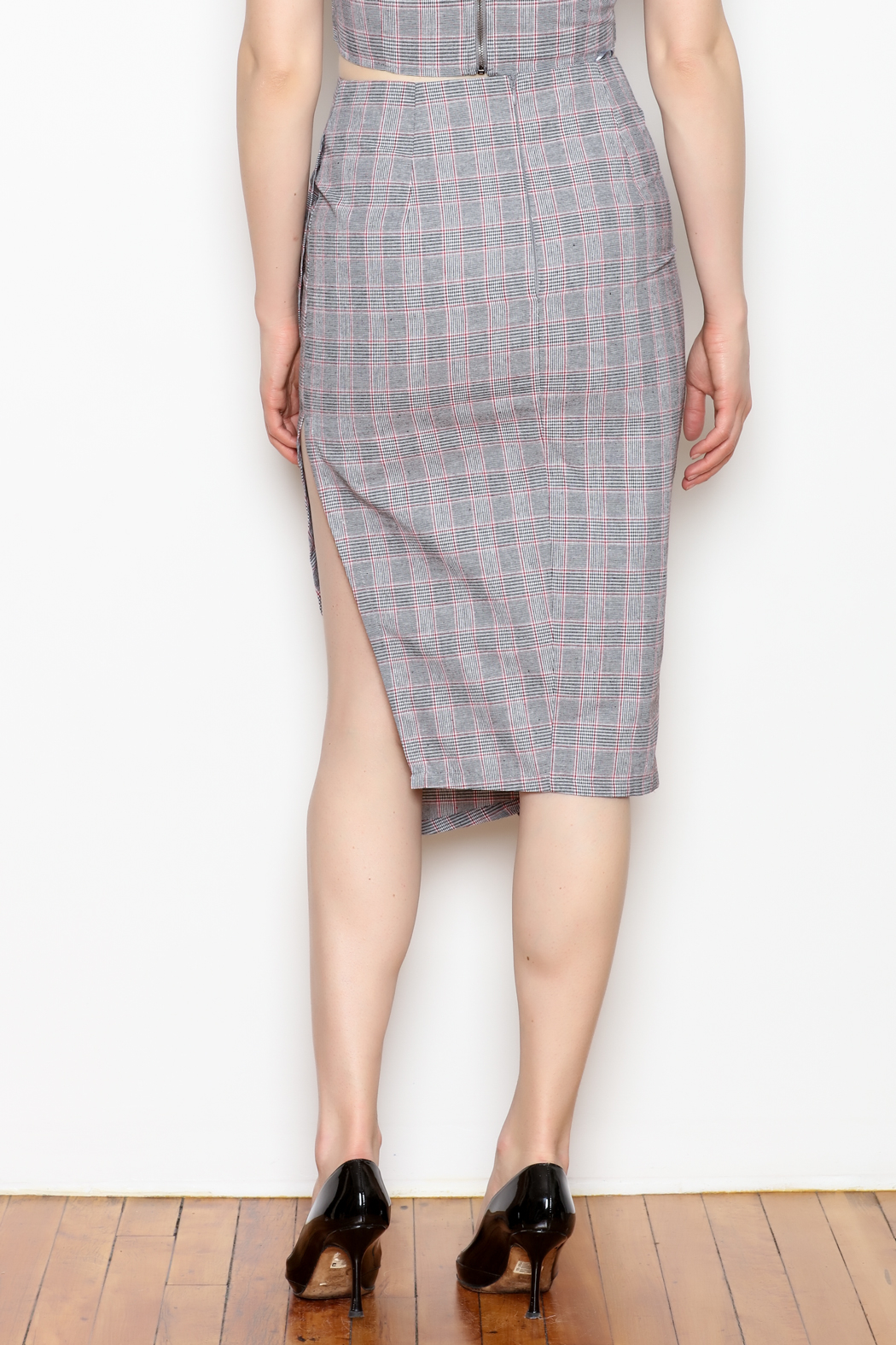 re:named Ruffle Plaid Skirt - Back Cropped Image