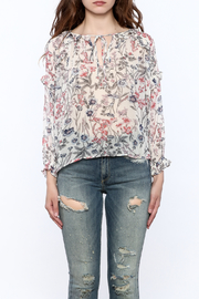 re:named Lightweight Floral Print Blouse - Side cropped