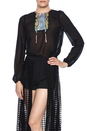 re:named Sequin Trompe Ruffles Blouse - Front cropped
