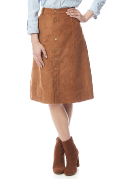 Shoptiques Product: Faux Suede Button Skirt