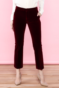 Shoptiques Product: Velvet Crop Flare Pants