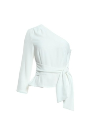 re:named White Oneshoulder Top - Product Mini Image