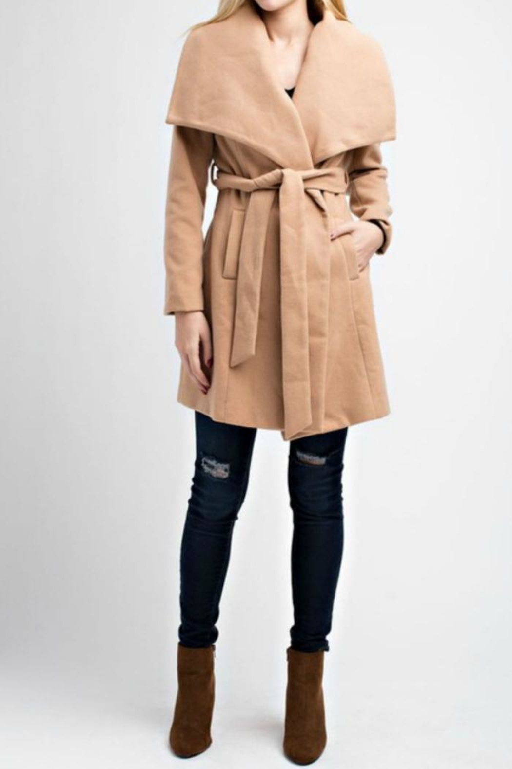 re:named Wrap Coat - Front Cropped Image