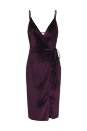 re:named Wrap Plum Dress - Front cropped