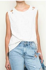 Re-Order Cutout Shoulder Tee - Product Mini Image