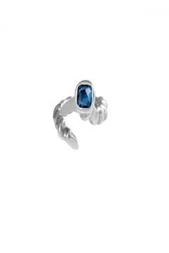 Uno de 50 Re-Twister Ring w Blue Stone - Product List Image