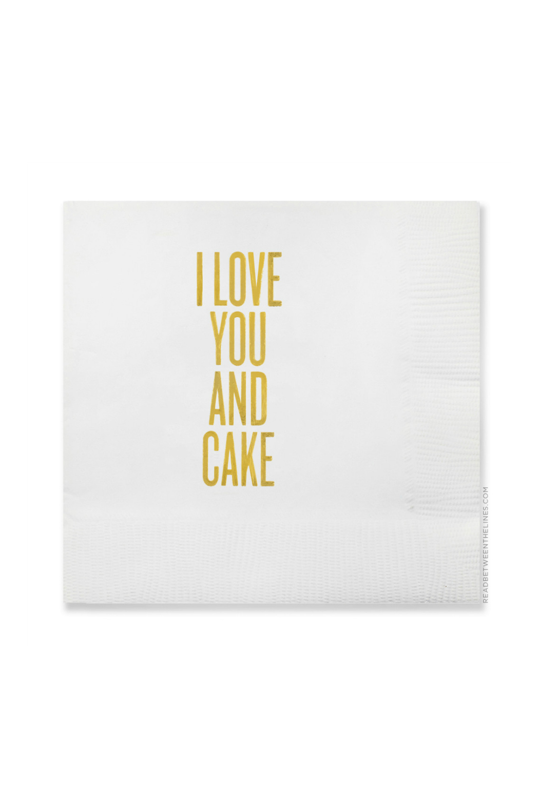 Read Between the Lines Love Cake Napkins - Main Image