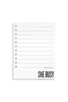 Shoptiques Product: She Busy Notepad