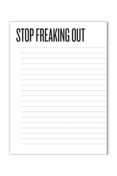 Shoptiques Product: Stop Freaking Out Paper