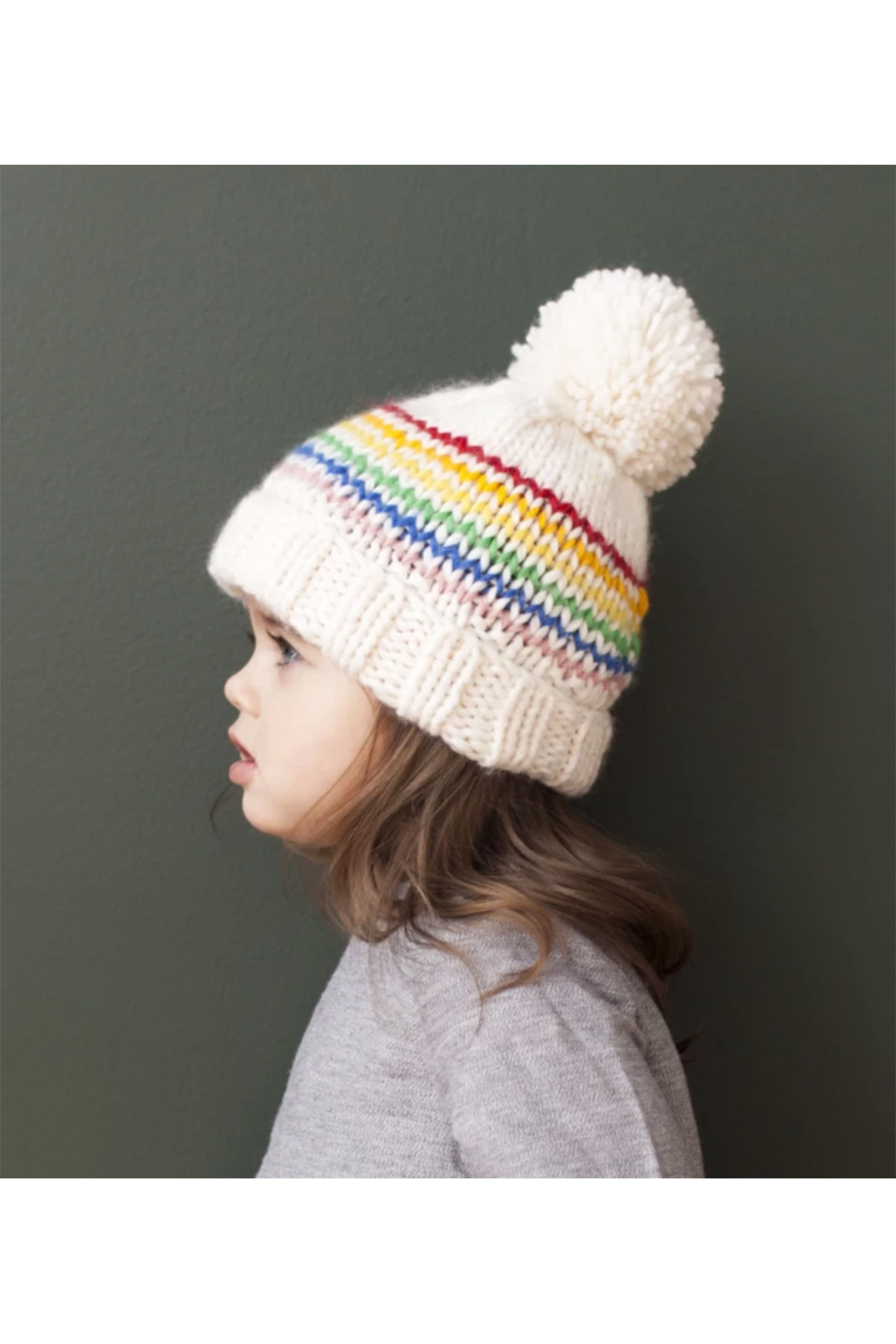 The Blueberry Hill Reagan Rainbow Beanie - Front Cropped Image