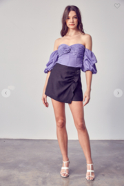 Do+Be Collection  Reagan Side Ruched Skort - Product Mini Image