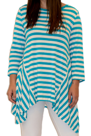 Mountain Mamas Teal Striped Tunic - Front cropped