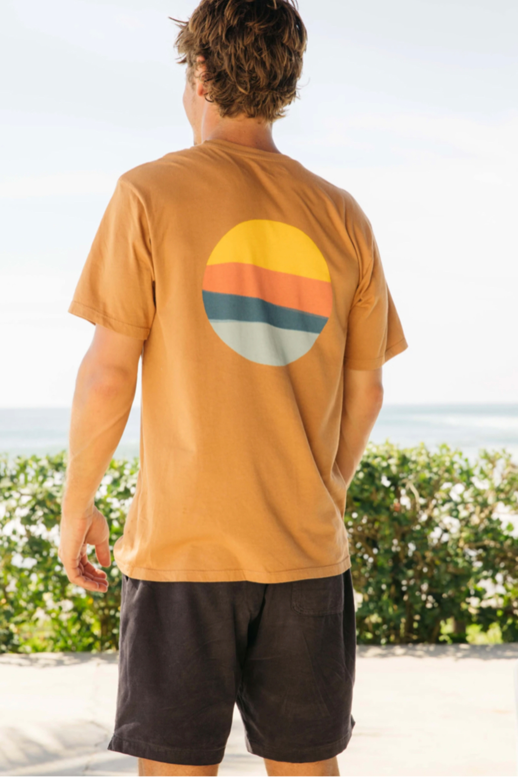 Mollusk Realize Tee in Orange Earth - Main Image