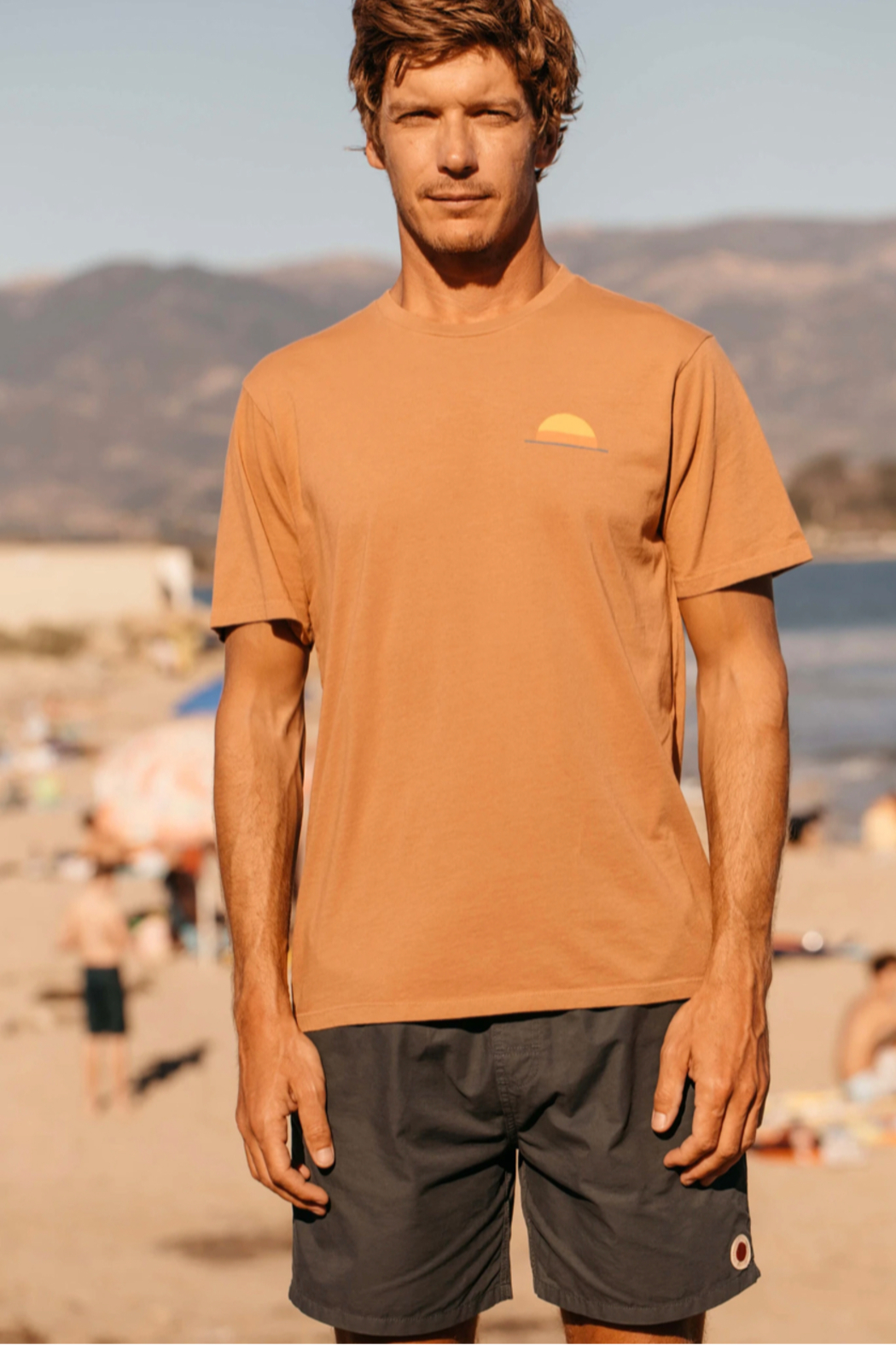 Mollusk Realize Tee in Orange Earth - Front Full Image