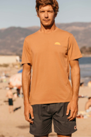 Mollusk Realize Tee in Orange Earth - Front full body