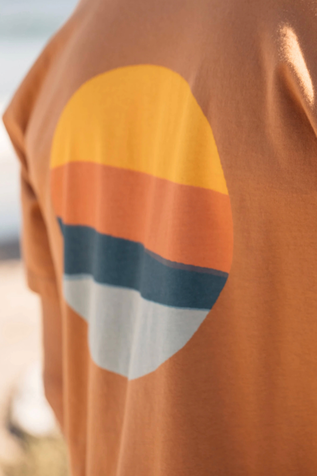 Mollusk Realize Tee in Orange Earth - Side Cropped Image