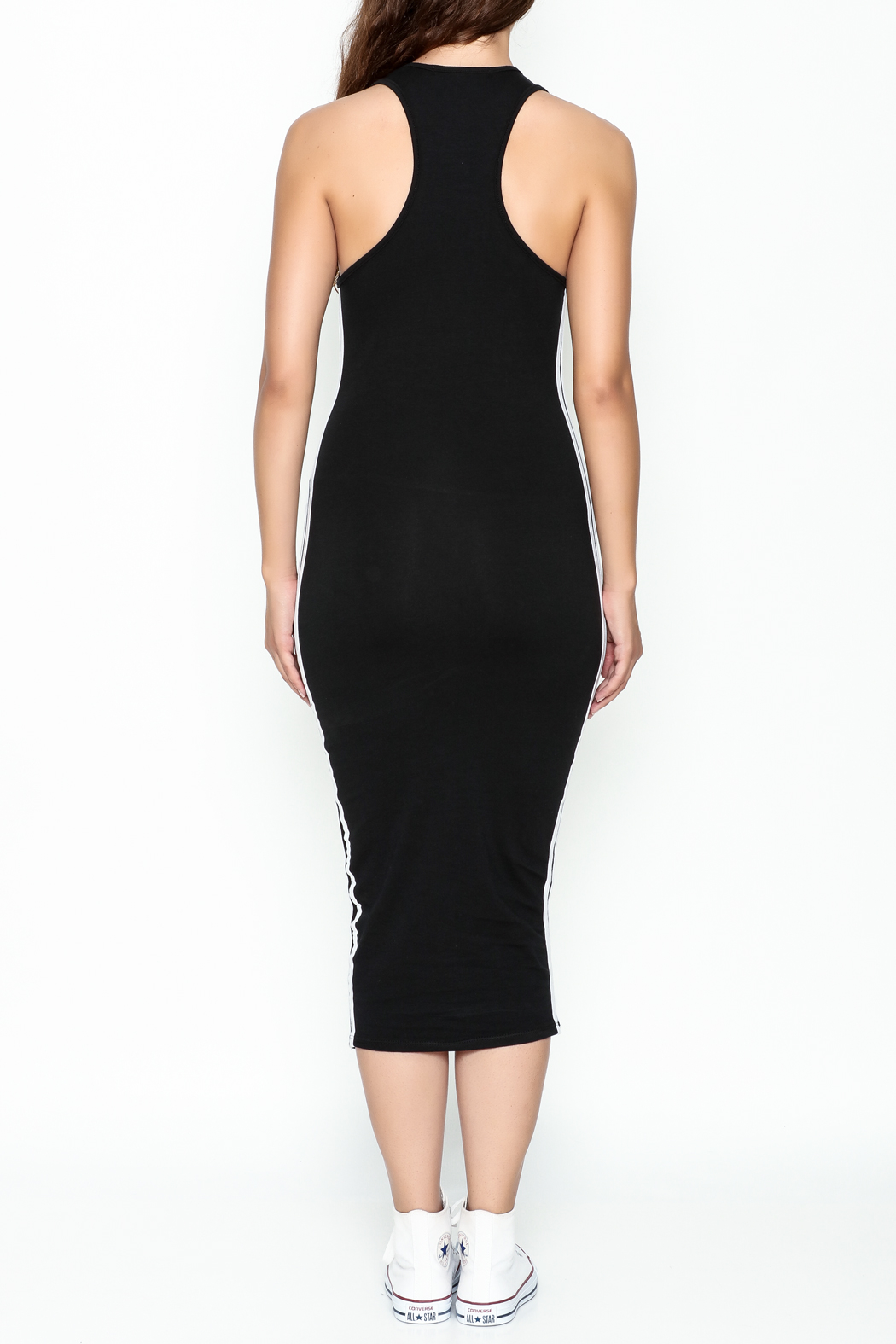 Rebdolls Back Racerback Midi Dress - Back Cropped Image
