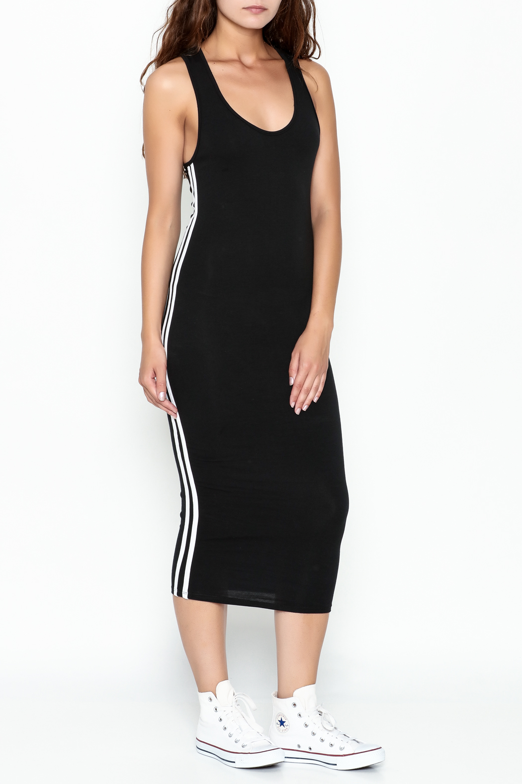 Rebdolls Back Racerback Midi Dress - Main Image