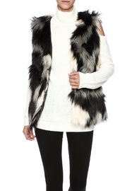 rebecca elliott Gray Faux-Fur Vest - Product Mini Image