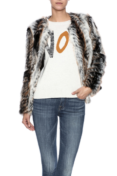Shoptiques Product: Tan Faux-Fur Jacket