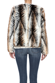 rebecca elliott Tan Faux-Fur Jacket - Back cropped
