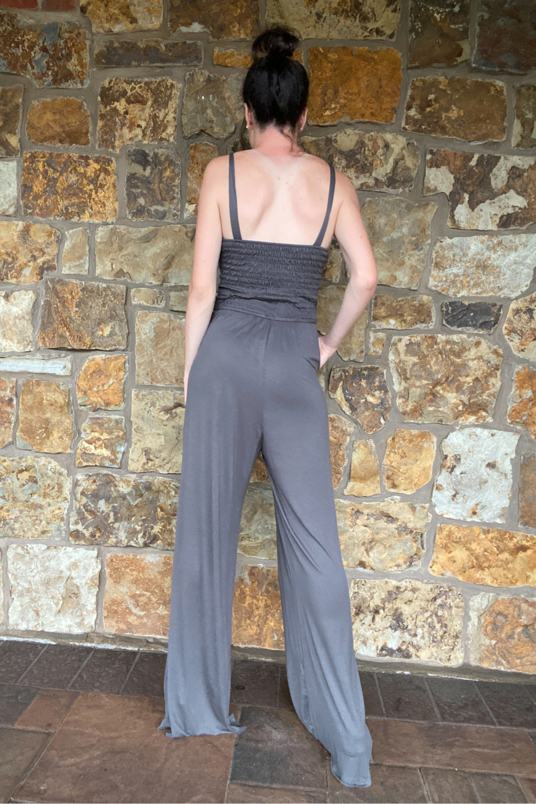 Vava by Joy Hahn Rebecca Smocked Top Jumpsuit - Side Cropped Image