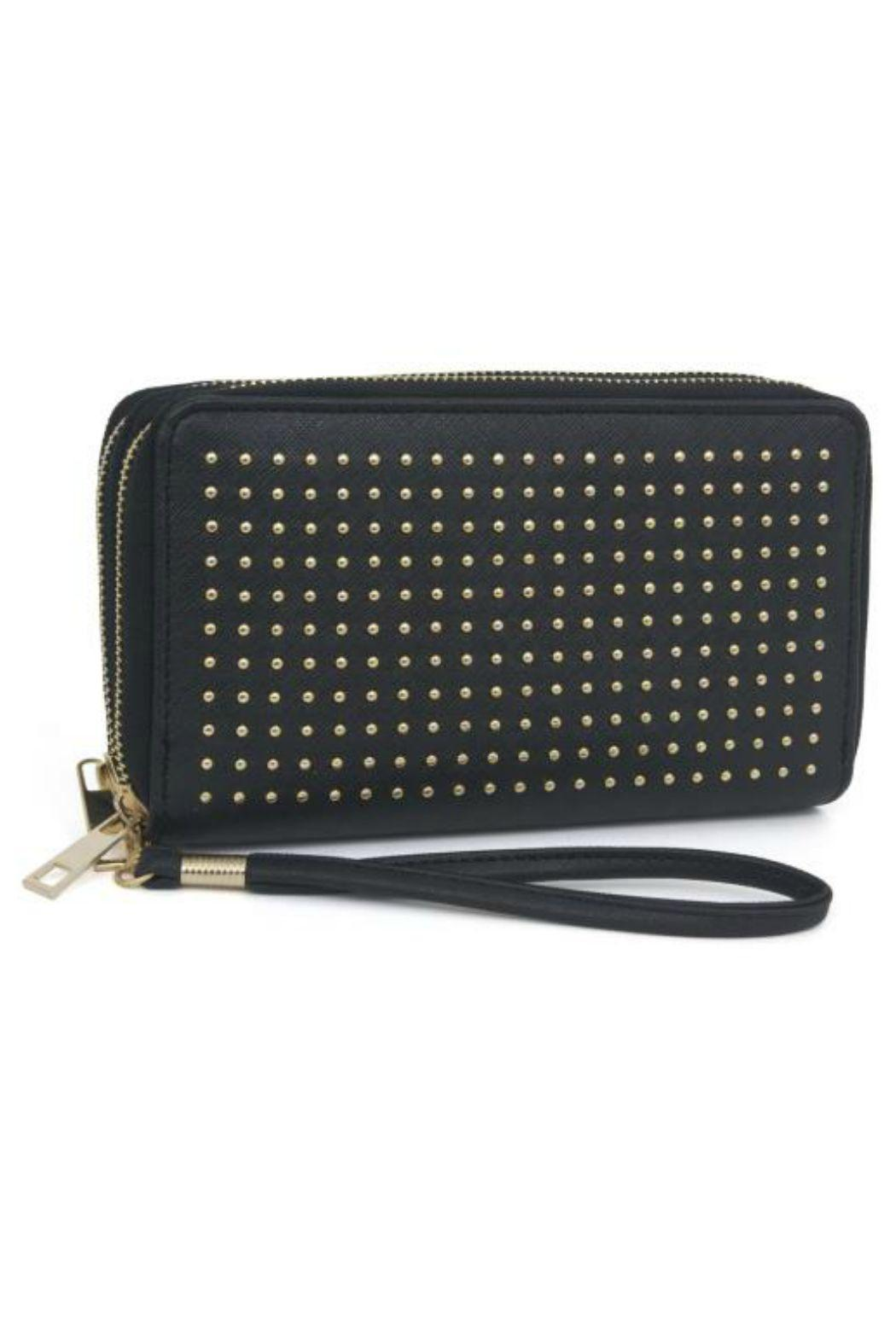 Rebecca And Rifka Studded Wristlet Wallet Front Cropped Image