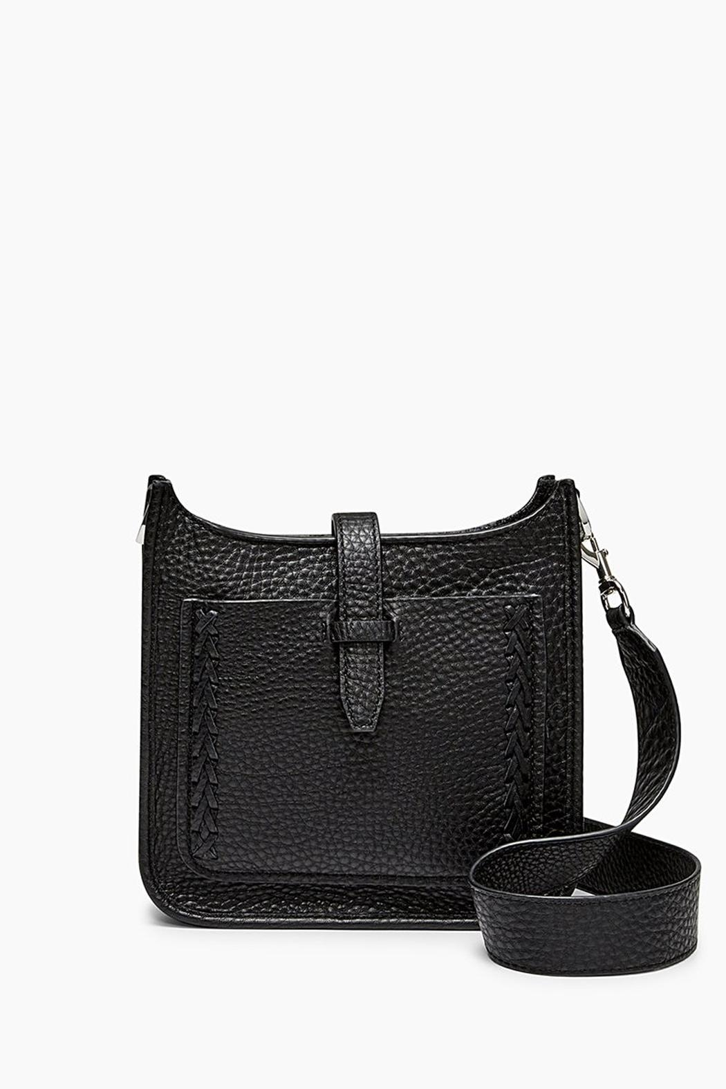 Rebecca Minkoff Black Leather Crossbody - Front Cropped Image