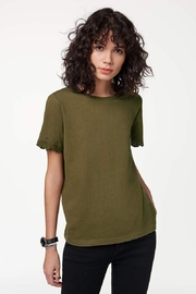 Rebecca Minkoff Eyelet Sleeve Tee - Front cropped