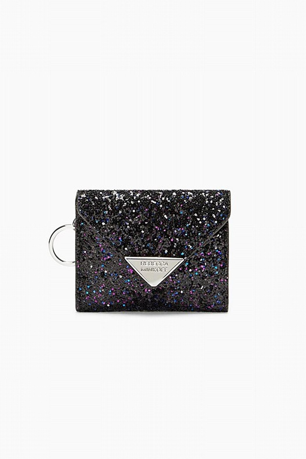 Rebecca Minkoff Glitter Card Case - Front Cropped Image