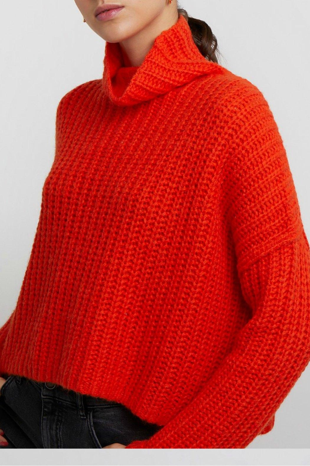 Rebecca Minkoff Kasey Turtleneck Sweater - Front Cropped Image