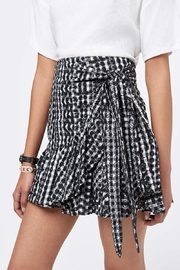 Rebecca Minkoff Ruffle Gingham Skirt - Front cropped