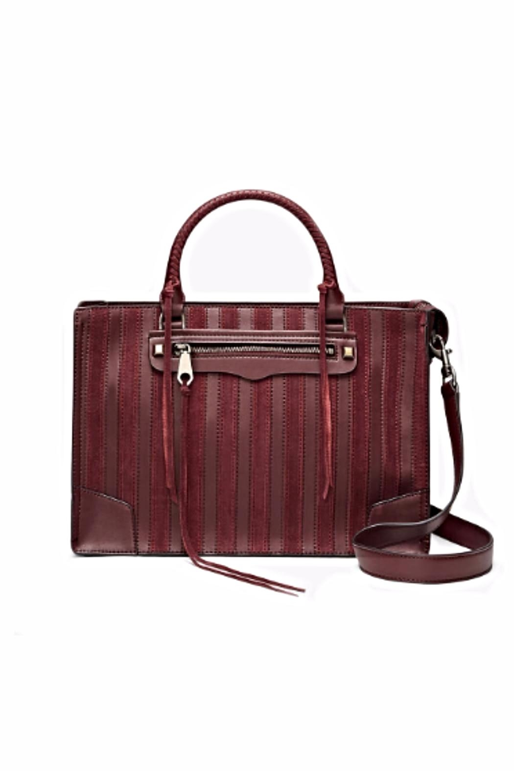 Rebecca Minkoff Striped Regan Satchel - Front Cropped Image