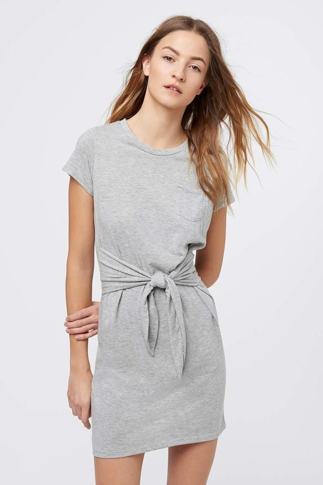 Rebecca Minkoff Tie Front Dress - Front Cropped Image