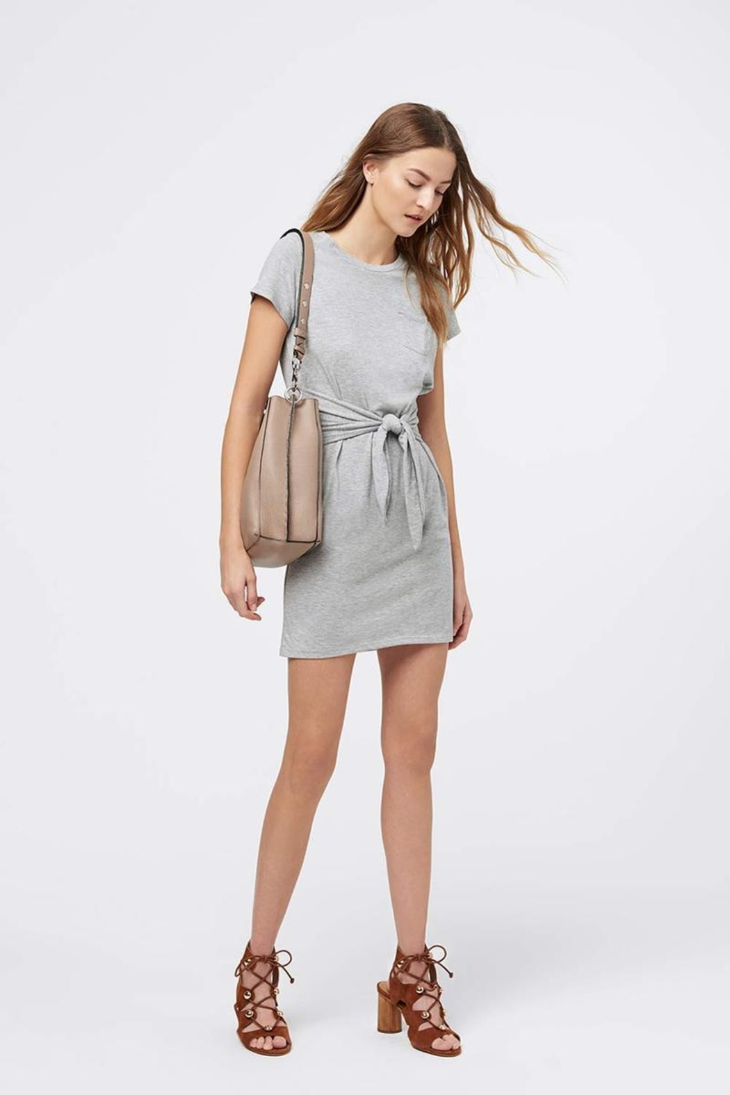 Rebecca Minkoff Tie Front Dress - Side Cropped Image