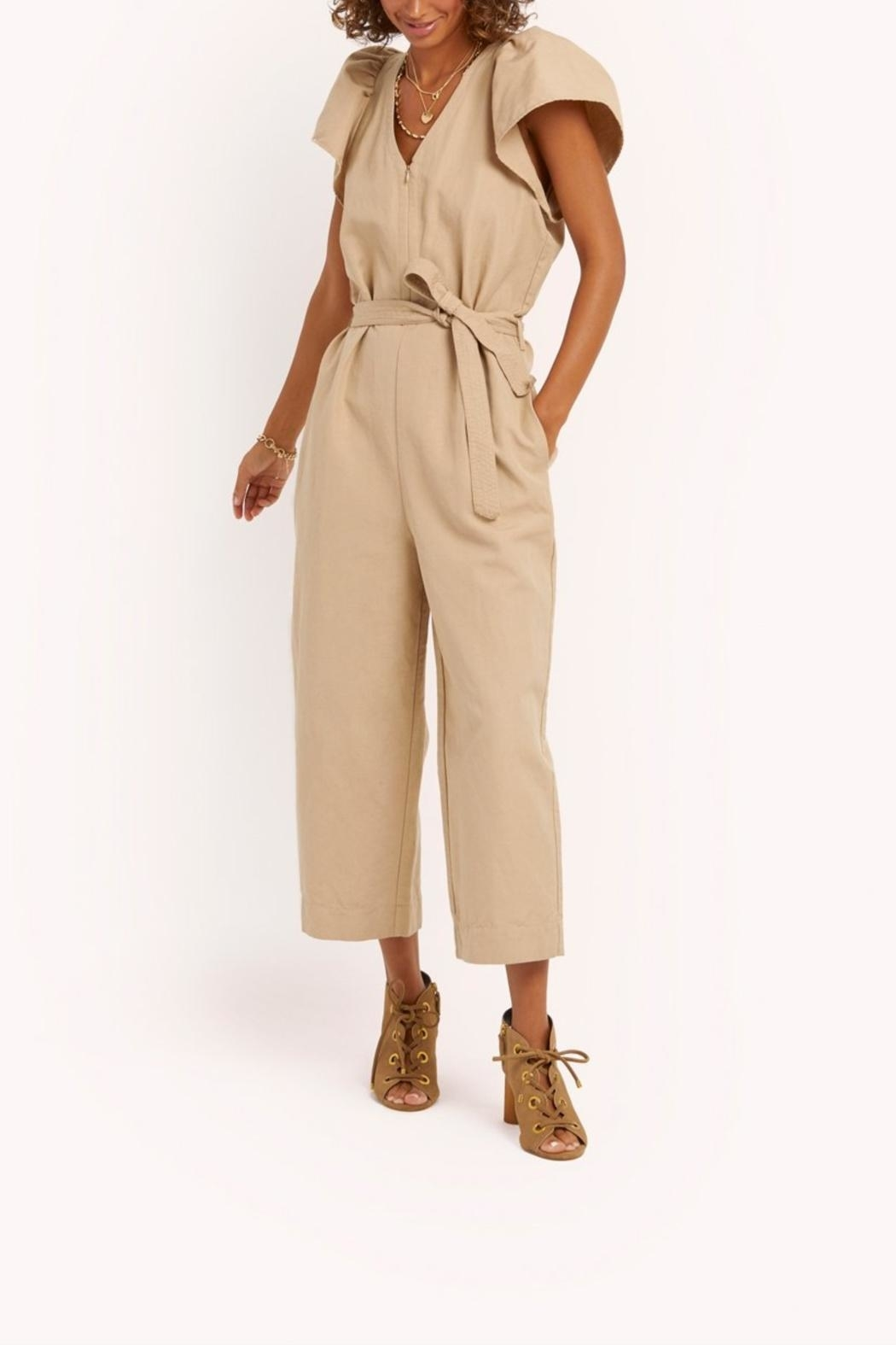 Rebecca Minkoff Zina Short-Sleeve Jumpsuit - Front Cropped Image