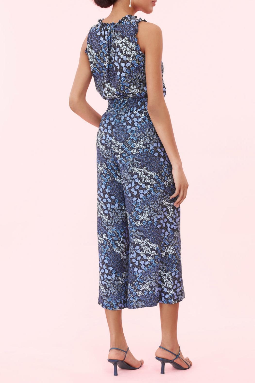 Rebecca Taylor Ava Floral Smocked Pant - Front Full Image