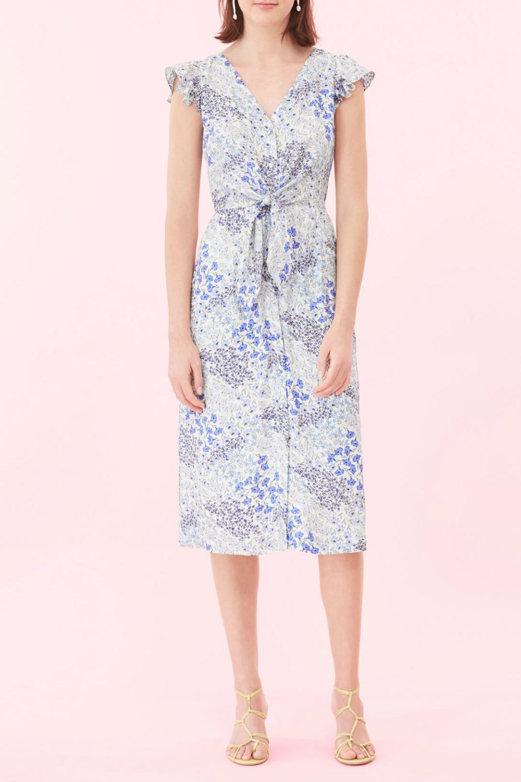 Rebecca Taylor Ava Tie Dress - Side Cropped Image