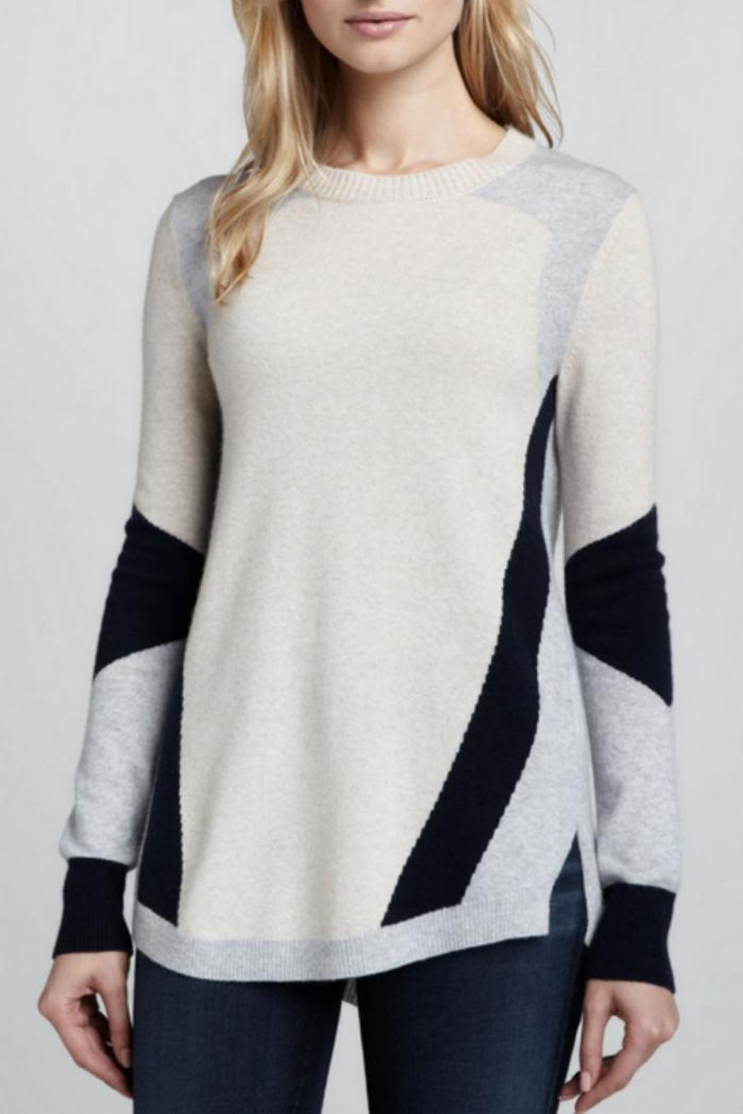 Rebecca Taylor Colorblocked Intarsia Sweater - Main Image