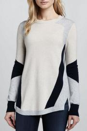 Rebecca Taylor Colorblocked Intarsia Sweater - Product Mini Image